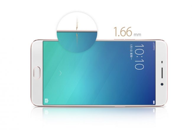 The OPPO R9 has ultra-thin 1.66 mm bezels_resize